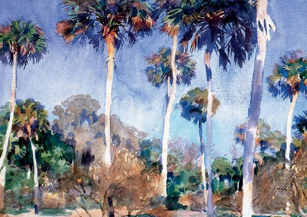 Palms, Greeting Card by John Singer Sargent - Thumbnail