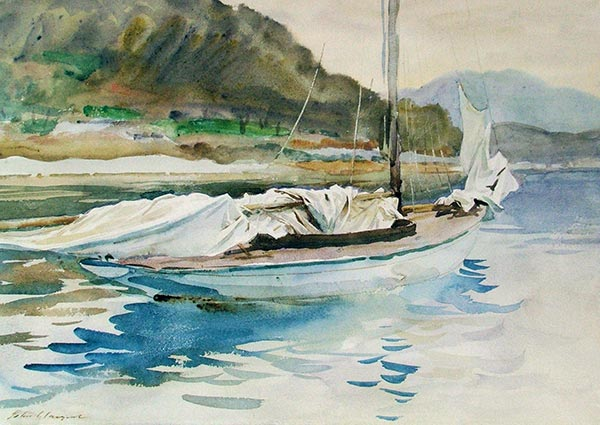 Idle Sails, Greeting Card by John Singer Sargent - Thumbnail