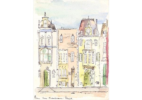 Rue de Marceau, Greeting Card by Ann Gower - Thumbnail
