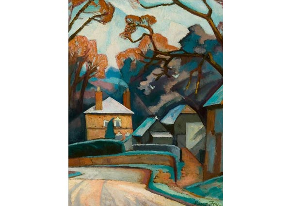 Winter Landscape, Greeting Card by Roger Fry - Thumbnail