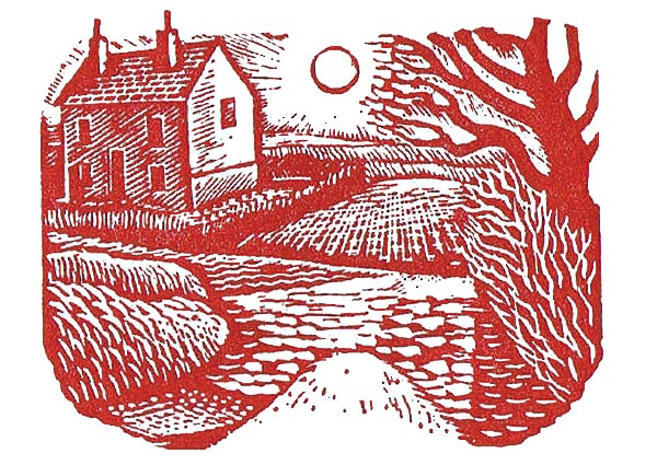 Red House in Winter, Greeting Card by Eric Ravilious - Thumbnail