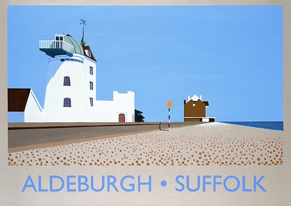 Aldeburgh, Suffolk, Greeting Card by David Kirk - Thumbnail