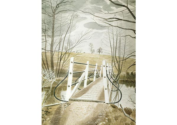 Iron Bridge at Ewenbridge, Greeting Card by Eric Ravilious - Thumbnail