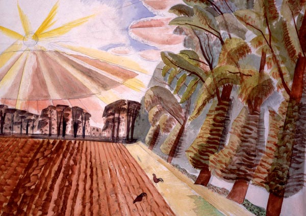 Ploughed Field, Greeting Card by Edward Bawden - Thumbnail