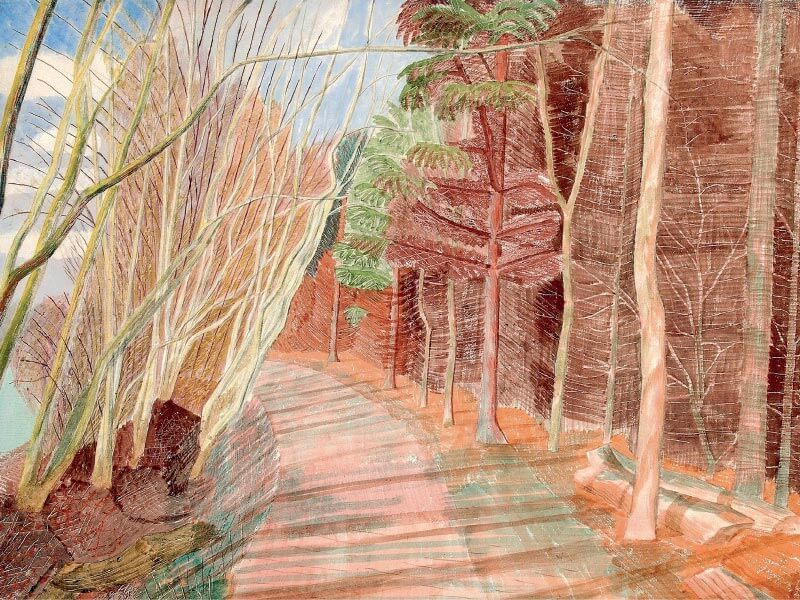 Larchwood, Greeting Card by Edward Bawden - Featured on Mobile Devices