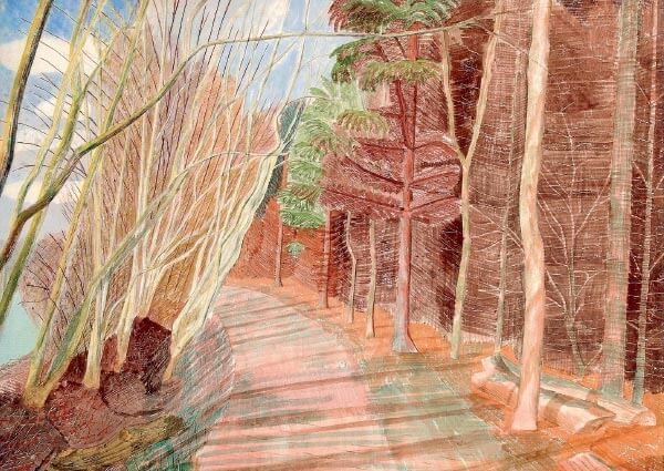 Larchwood, Greeting Card by Edward Bawden - Thumbnail