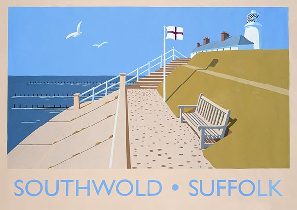 Southwold, Suffolk, Greeting Card by David Kirk - Thumbnail