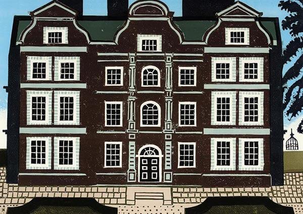 Kew Palace, Greeting Card by Edward Bawden - Thumbnail