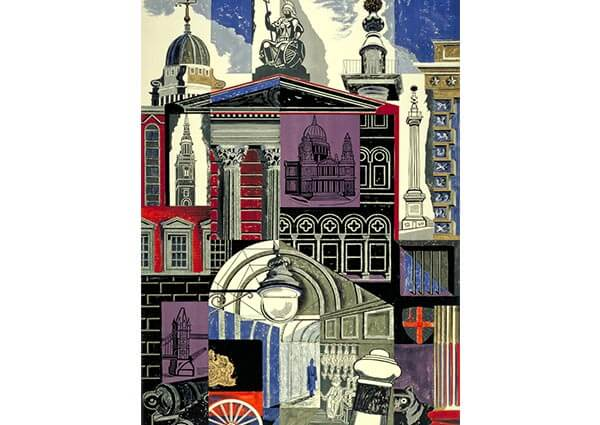 London Poster, Greeting Card by Edward Bawden - Thumbnail