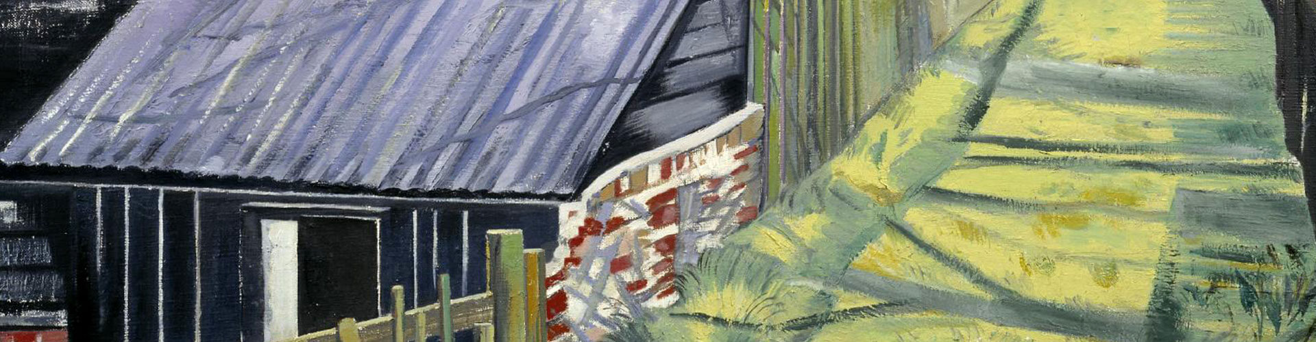Behind the Inn, Greeting Card by Paul Nash - Featured on Desktop Devices