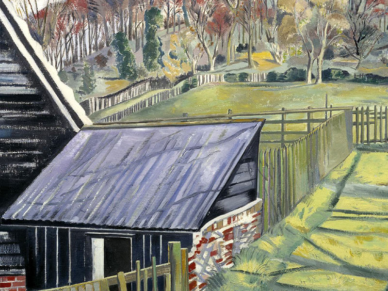 Behind the Inn, Greeting Card by Paul Nash - Featured on Mobile Devices