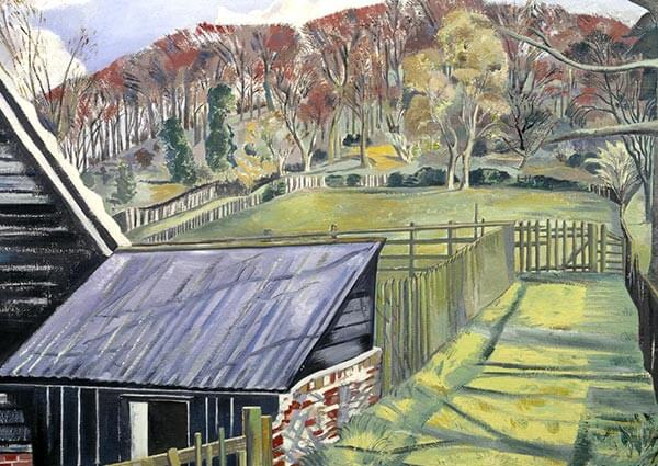 Behind the Inn, Greeting Card by Paul Nash - Thumbnail