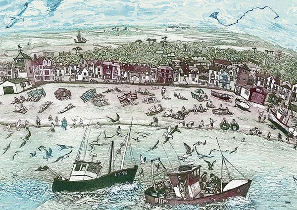 Aldeburgh Beach, Greeting Card by Glynn Thomas - Thumbnail