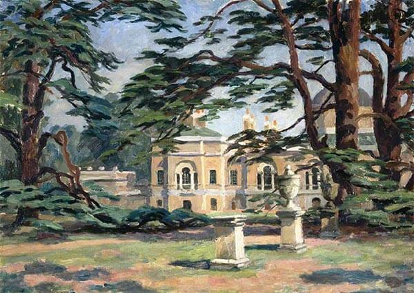 Chiswick House, Greeting Card by Roger Fry - Thumbnail