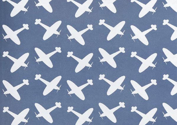 Endpaper Design: Aeroplanes, Greeting Card by Eric Ravilious - Thumbnail