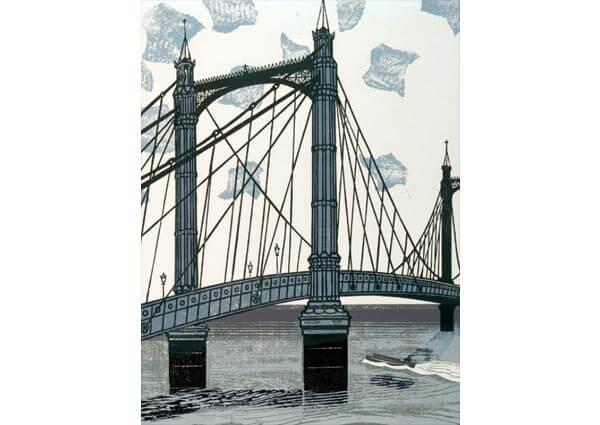 Albert Bridge, Greeting Card by Edward Bawden - Thumbnail