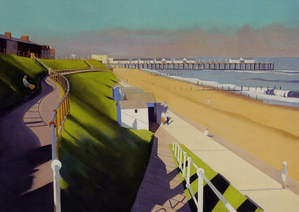 Evening Falls, Southwold, Greeting Card by Katherine Hamilton - Thumbnail