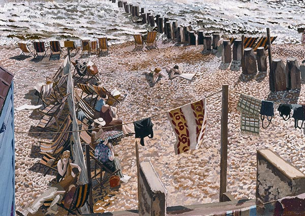Southwold, Greeting Card by Stanley Spencer - Thumbnail