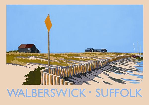 Walberswick, Suffolk, Greeting Card by David Kirk - Thumbnail