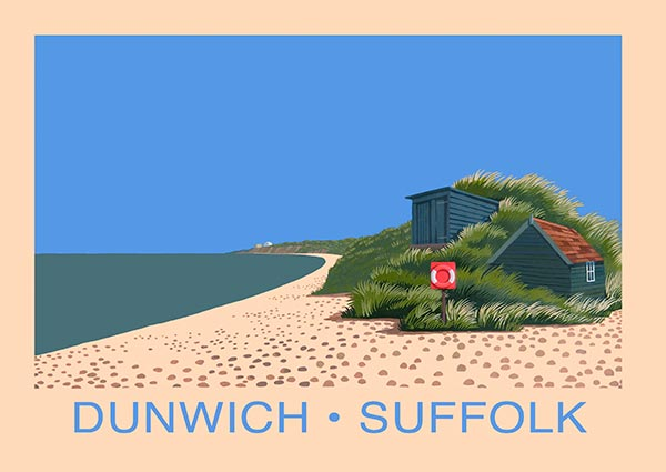 Dunwich, Suffolk, Greeting Card -  Published by Orwell Press