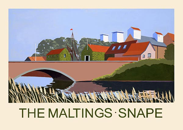 Snape Maltings, Suffolk, Greeting Card by David Kirk - Thumbnail