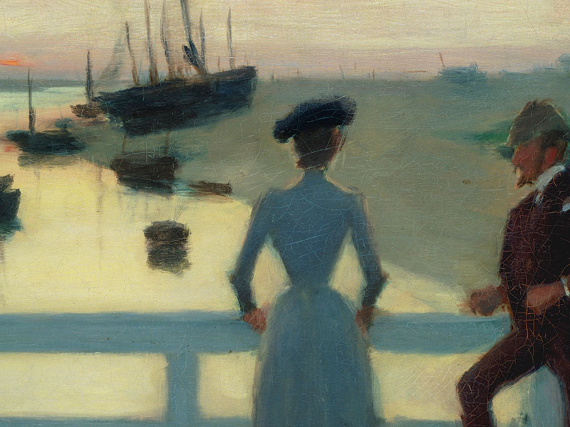 The Bridge, Walberswick, Greeting Card by Philip Wilson Steer - Featured on Mobile Devices