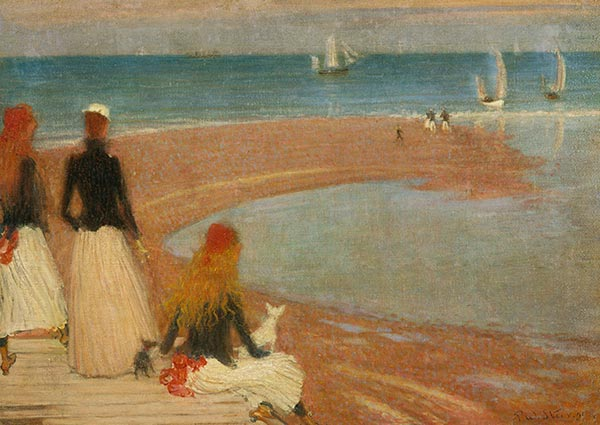 The Beach at Walberswick, Greeting Card by Philip Wilson Steer - Thumbnail