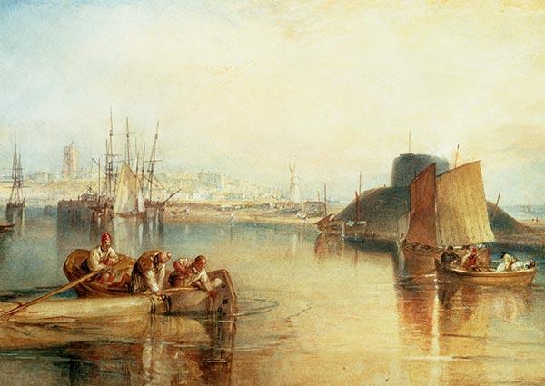 Aldeburgh, Suffolk, Greeting Card by J. M. W. Turner - Thumbnail