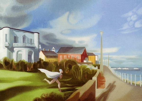 Sunday Morning, Southwold, Greeting Card by Julia Heseltine - Thumbnail