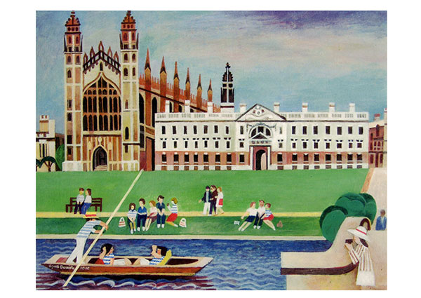 King's College, Cambridge, Greeting Card by Alfred Daniels - Thumbnail