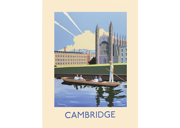 Cambridge, Greeting Card by David Kirk - Thumbnail