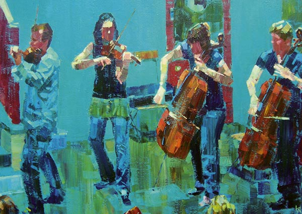 Covent Garden Quartet, 2012, Greeting Card by Hashim Akib - Thumbnail