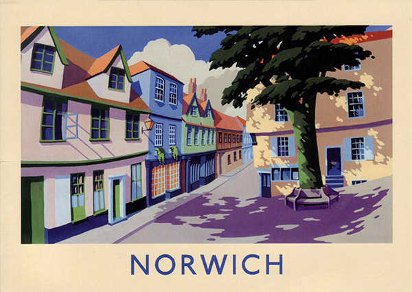 Norwich, Norfolk, Greeting Card - Part of Orwell Press\' Norfolk Greetings Card Collection.