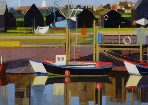 Harbour, Southwold, Greeting Card by Katherine Hamilton - Thumbnail