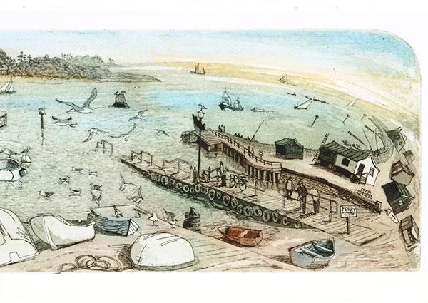 Felixtowe Ferry, Greeting Card by Glynn Thomas - Thumbnail