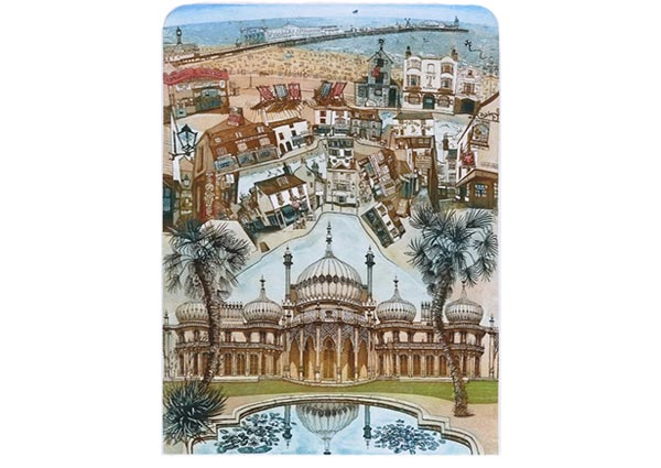 Brighton, Greeting Card - Part of Orwell Press\' Sussex Greetings Card Collection.