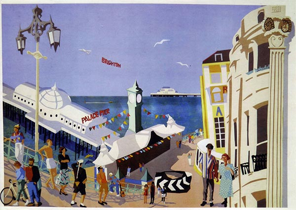 Brighton, Greeting Card -  Published by Orwell Press