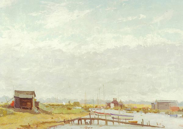The Ferry, Walberswick, Greeting Card by Margaret Green - Thumbnail