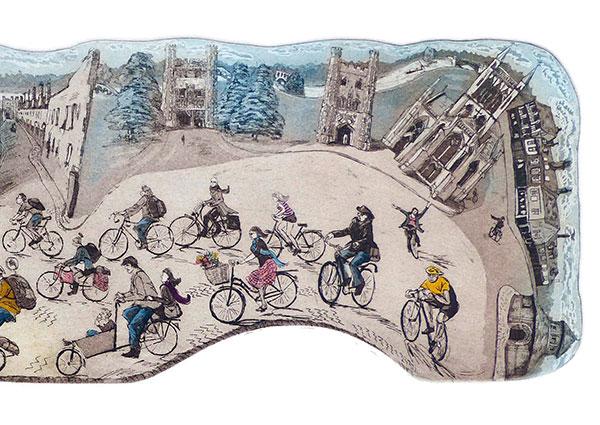 Tour de Cambridge, Greeting Card by Glynn Thomas - Thumbnail