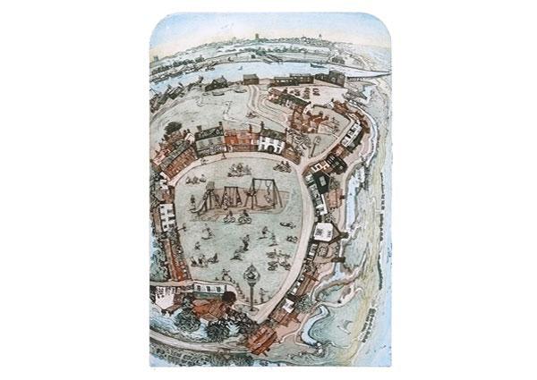 Walberswick Green, Greeting Card by Glynn Thomas - Thumbnail